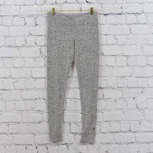 Overlap front grey leggings